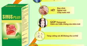 Công dụng của Viên uống thảo dược viêm xoang viêm mũi – Sinus Plus